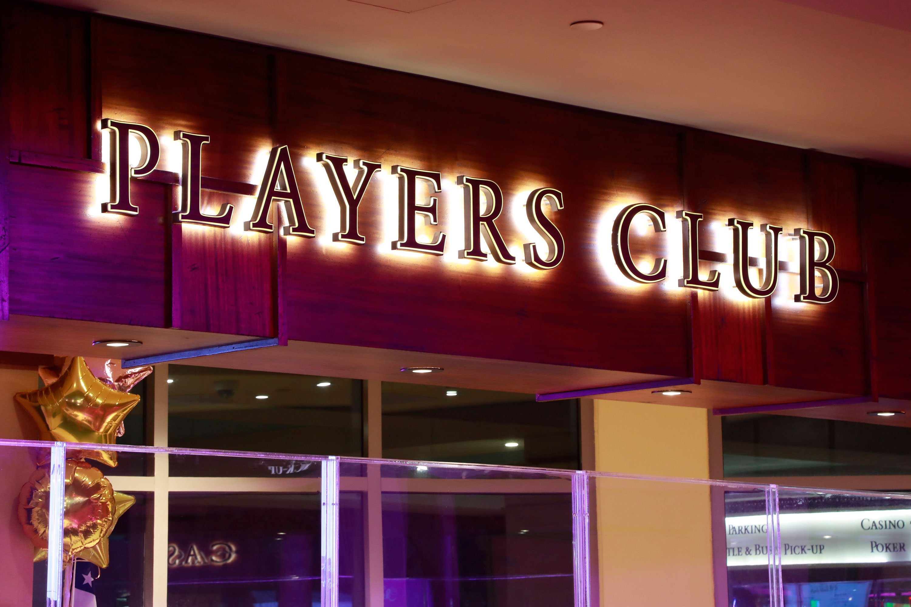 Players club sign